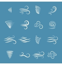 Wind icons vector image