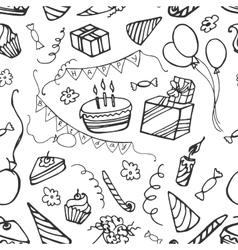 Doodle pattern happy birthday vector image vector image