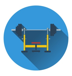 Icon of Bench with barbell vector image vector image