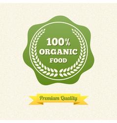 Organic Food Label vector image