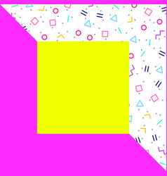abstract geometric background neon memphis style vector image
