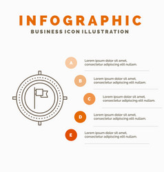aim business deadline flag focus infographics vector image