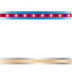 American flag symbols patriotic border vector