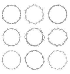 barbed wire frames round prison wire symbols vector image