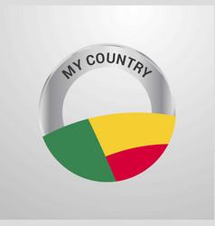 benin my country flag badge vector image