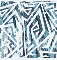 Blue color tribal grunge pattern vector