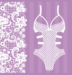 Body lingerie lacy lingerie vector