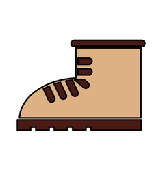 Boot construction shoe icon vector