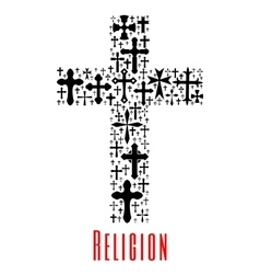Christianity cross icon Religion symbol vector