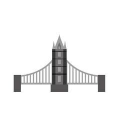 Classic British bridge icon vector