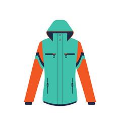 Climbing winter jacket isolated icon vector