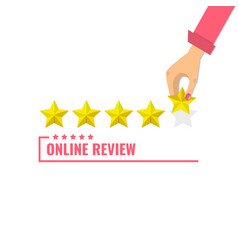 concept of feedback testimonials messages rating vector image