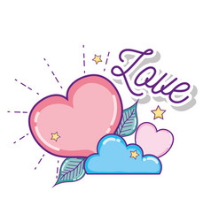 cute love cartoons vector image
