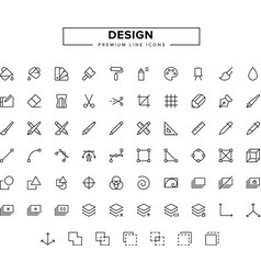 Design line icon set vector