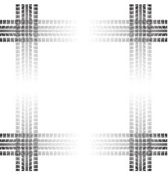 dotted tire track frame vector image