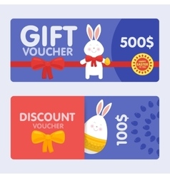 Easter voucher and discounts pattern set vector