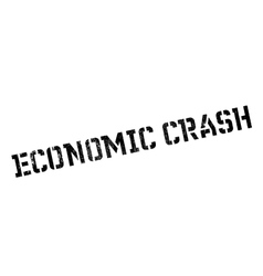 Economic Crash rubber stamp vector