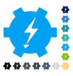 electric power gear icon vector image