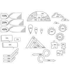 Elements for infographic template for vector