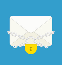 Envelope with lock vector