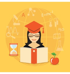 Flat education content vector
