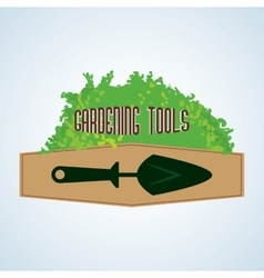 Gardening design tool concept natural icon vector image