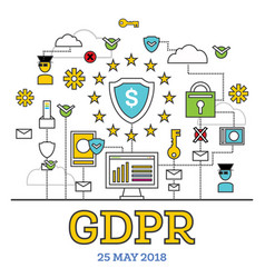 gdpr concept general data protection regulation vector image