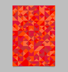 Geometrical red abstract seamless mosaic triangle vector