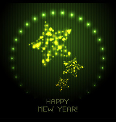 Happy new year greeting card or poster with vector