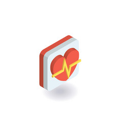 heart palpitation icon vector image