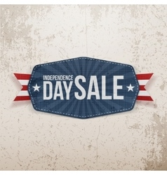 Independence Day Sale paper Emblem vector image