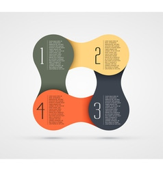 infographic steps vector image