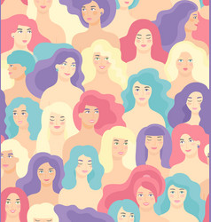 international women s day seamless pattern vector image