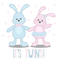 its twins boy and girl baby vector image