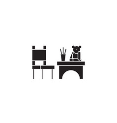 kids play table black concept icon kids vector image