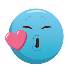 kiss chat emoticon vector image