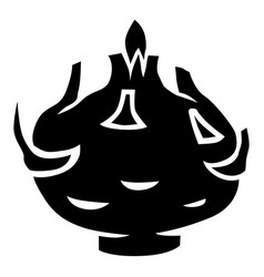 Kohlrabi cabbage silhouette icon vector