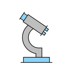 laboratory microscope isolated icon vector image