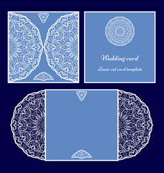 laser cut card template vector image