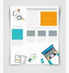 layout business flyer or brochure technology vector image