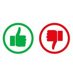 Like and dislike icons set thumbs up and thumbs vector