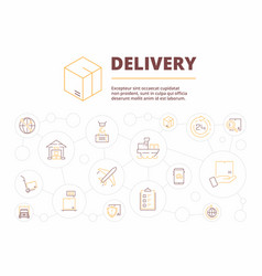 logistic background delivery service items vector image