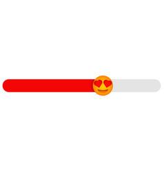 Love level slider feedback emotions poll vector