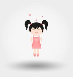 Lovely girl valentine s day vector