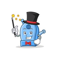 Magician pencil sharpener character cartoon vector