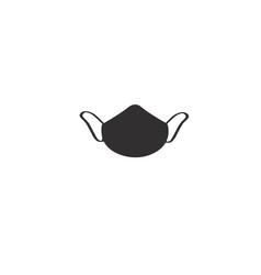Medical mask icon respirator face mask vector