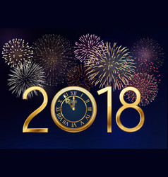 New year background with fireworks vector