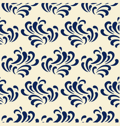 ocean waves seamless pattern classic blue color vector image