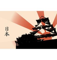 Osaka castle vector