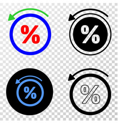 percent back eps icon with contour version vector image